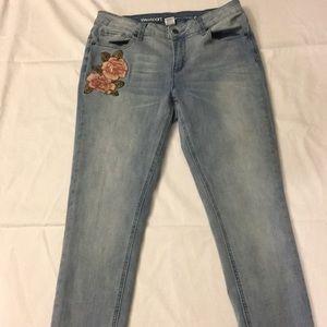 Floral Detailed Skinny Jeans